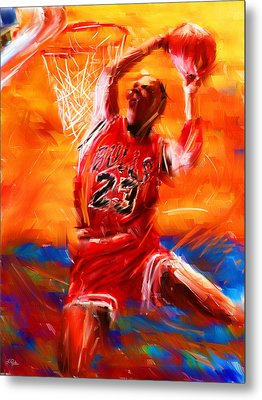 His Airness Metal Print by Lourry Legarde