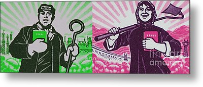 His And Hers Cultural Revolution Metal Print by Andy Prendy