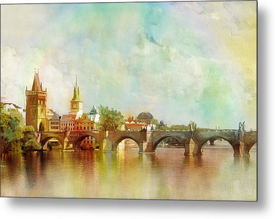 Historic Centre Of Prague  Metal Print by Catf