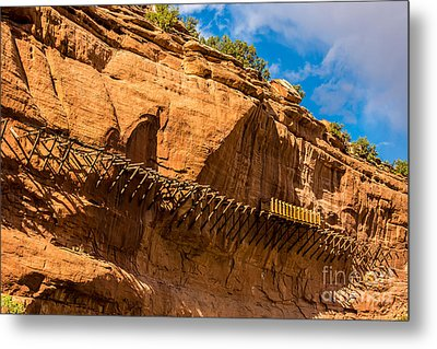 Historic Hanging Flume - Dolores River - Colorado Metal Print by Gary Whitton