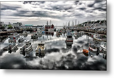 Historic Rockport Harbor Metal Print by Stephen Stookey