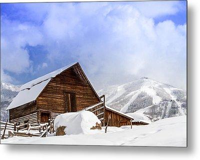 Historic Steamboat Springs Barn And Ski Area Metal Print by Teri Virbickis