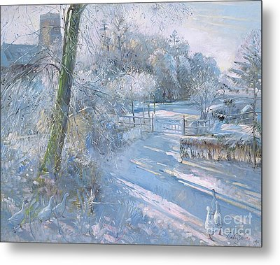 Hoar Frost Morning Metal Print by Timothy  Easton