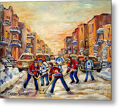 Hockey Daze Metal Print by Carole Spandau