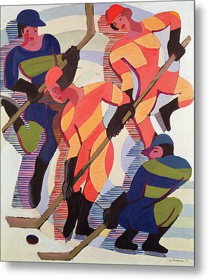Hockey Players Metal Print by Ernst Ludwig Kirchner