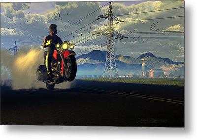 Hog Rider Metal Print by Dieter Carlton