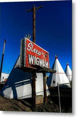 Holbrook Az - Wigwam Motel 015 Metal Print by Lance Vaughn