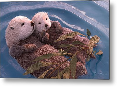 Holding Hands Metal Print by Gary Hanna