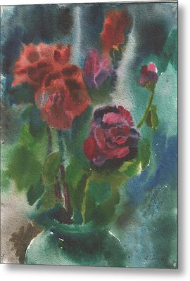 Holiday Roses Metal Print by Anna Lobovikov-Katz