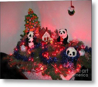 Holidays In Pandaland Metal Print by Ausra Huntington nee Paulauskaite