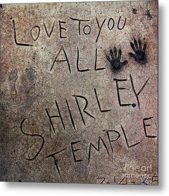 Hollywood Chinese Theatre Shirley Temple 5d29050 Metal Print by Wingsdomain Art and Photography