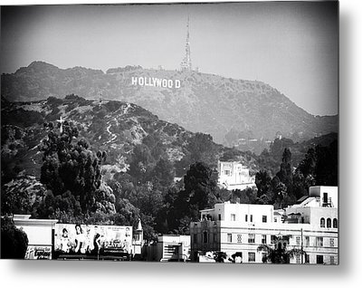 Hollywood Sign Metal Print by John Rizzuto