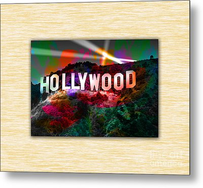 Hollywood Sign Metal Print by Marvin Blaine