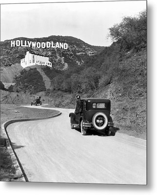 Hollywoodland Metal Print by Underwood Archives