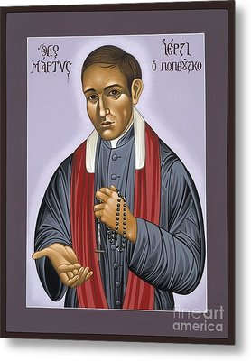 Holy New Martyr Father Jerzy Popieluszko 030 Metal Print by William Hart McNichols