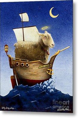 Holy Sheep Ship... Metal Print by Will Bullas
