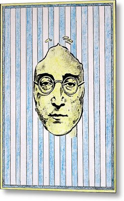 Homage To John Lennon  Metal Print by John  Nolan