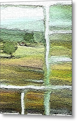 Home Alone As A  Patchwork Quilt Metal Print by Lenore Senior