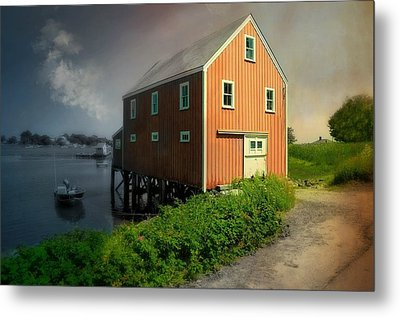 Home On Cape Porpoise Metal Print by Diana Angstadt