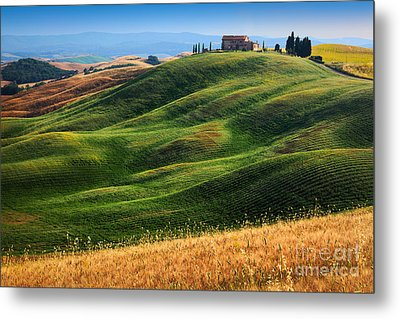Home On The Hill Metal Print by Inge Johnsson