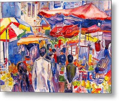 Hong Kong Market Metal Print by Joyce Kanyuk