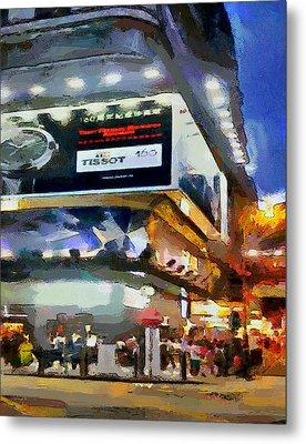 Hong Kong Night Lights 1 Metal Print by Yury Malkov