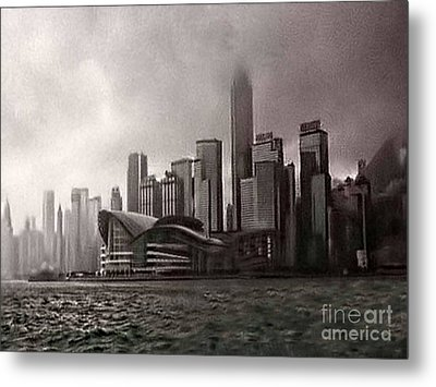 Hong Kong Rain 5 Metal Print by Tom Prendergast