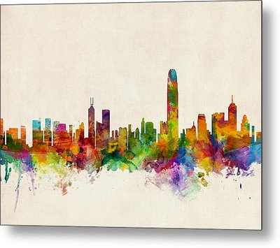 Hong Kong Skyline Metal Print by Michael Tompsett