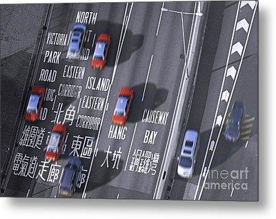 Hong Kong Taxi Metal Print by Lars Ruecker