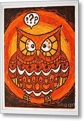 Hoo's There Metal Print by Kimberly Wix
