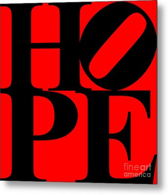 Hope 20130710 Black Red Metal Print by Wingsdomain Art and Photography