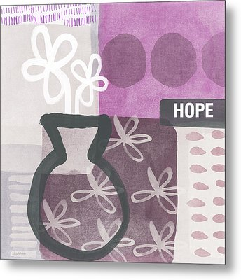 Hope- Contemporary Art Metal Print by Linda Woods