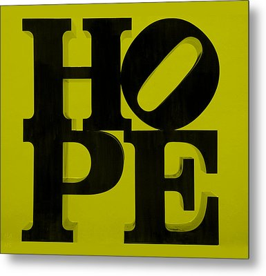 Hope In Yellow Metal Print by Rob Hans