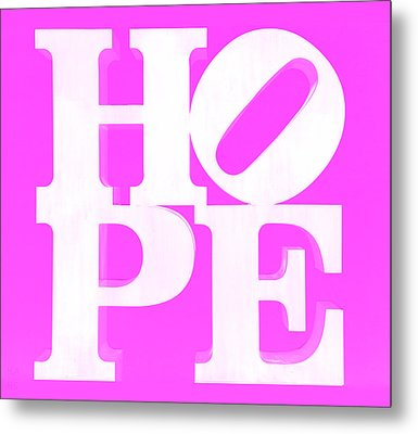 Hope Inverted Pink Metal Print by Rob Hans