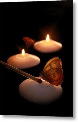Hope Lights A Flame Metal Print by Chrystyne Novack