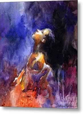 'hope' Woman Portrait  Metal Print by Svetlana Novikova