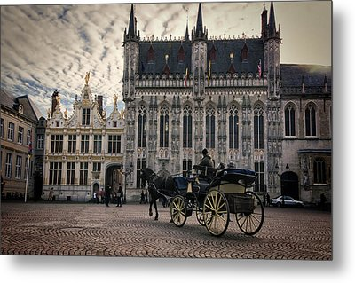 Horse And Carriage Metal Print by Joan Carroll