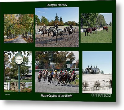 Horse Capital Of The World Metal Print by Roger Potts