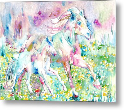Horse Painting.17 Metal Print by Fabrizio Cassetta