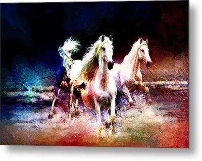 Horse Paintings 002 Metal Print by Catf