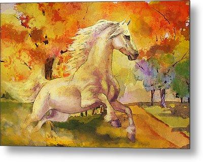 Horse Paintings 003 Metal Print by Catf