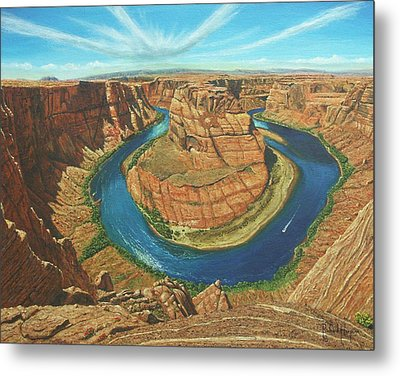 Horseshoe Bend Colorado River Arizona Metal Print by Richard Harpum