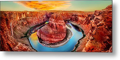 Horseshoe Bend Sunset Metal Print by Az Jackson