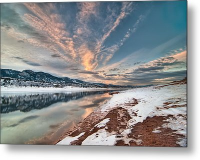 Horsetooth Sunset Hdr Metal Print by Preston Broadfoot