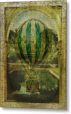 Hot Air Balloon Voyage Metal Print by Sarah Vernon