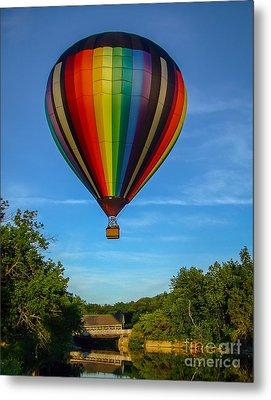 Hot Air Balloon Woodstock Vermont Metal Print by Edward Fielding