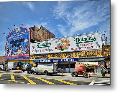 Hot Dogging It To Opening Day Metal Print by Tony Ambrosio