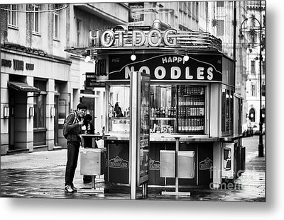 Hot Dogs Or Noodles Metal Print by John Rizzuto