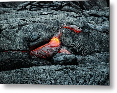 Hot Lava Metal Print by Jen Morrison
