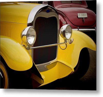 Hot Rod Fords Metal Print by Ron Roberts